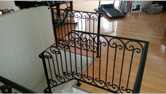 Black Scrolls Feature Balustrade