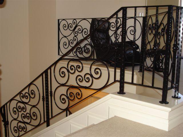 Internal Black Scrolls Stair Balustrade