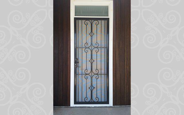 Wrought Iron Screen Door