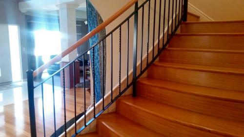 Modern Black Woodrail Balustrade
