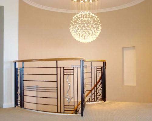 Stainless Steel Wooden And Wrought Iron Balustrade