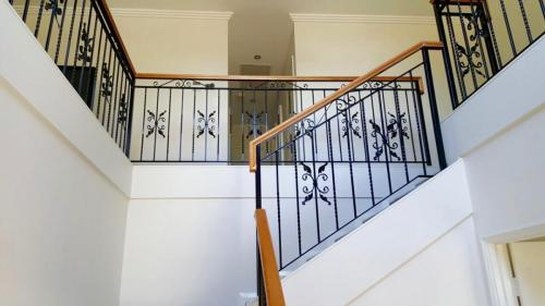 Stamped Leaf Scroll Stair Balustrade